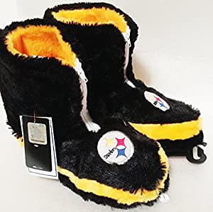 NFL Football Women's Team Logo Bootie Fuzzy - Pittsburgh Steelers at Steeler Mania