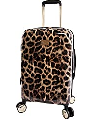 BEBE Womens Adriana 21 Hardside Carry-on Spinner Luggage, Leopard