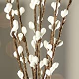 Factory Direct Craft Group of 12 Hand Wrapped Petite White Pip Berry Sprays for Home Decor, Primitive Accenting and Creating
