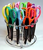 Strokes Office Supplies 12 Paper Edger Scissors with Organizer Stand! Great for Teachers, Crafts, Scrapbooking (SBA5115)