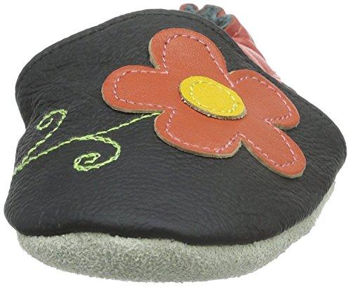 Freefisher Lauflernschuhe, Krabbelschuhe, Babyschuhe - in vielen Designs Rot,12-18 Monate Schwarz (Blumen)