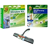 weatherstrip grease - Window Insulation Kit With Weatherstrip Seal and Squeegee Bundle – Includes Insulating Window Shrink Film, Weatherstripping for Doors or Windows, And Squeegee