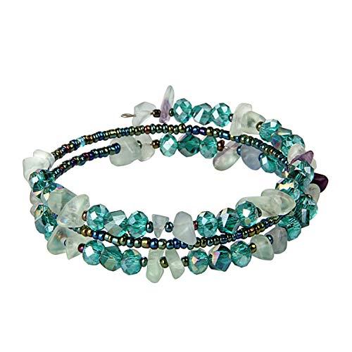 lancy's jewelry Bracelets for Women Girls Exotic Ethnic Style Bracelet Meltilayer Grey Colored Stone Bracelet