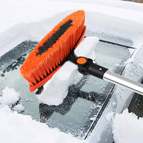 MATCC Car Snow Brush Removal Extendable with Squeegee and Ice Scraper Detachable Snow Mover for Car Auto SUV Truck Windshield Windows-MSB003