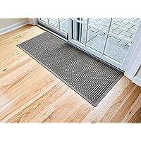 """Hudson Exchange 4212 Waterhog Fashion Floor Mat Runner, 60"""" L x 22"""" W, 3/8"""" Thick, Gray"""