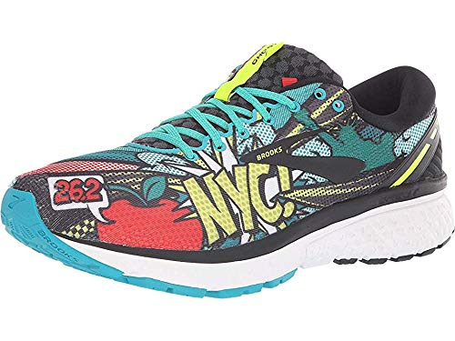 Brooks Men's Ghost 11 Black/Green/Pop Art 9.5 D US ()