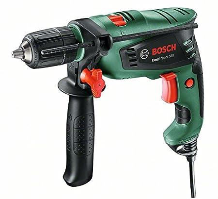 Bosch Schlagbohrmaschine EasyImpact 550 (Zusatzhandgriff, Tiefenanschlag, Koffer, 550 Watt) 0603130000
