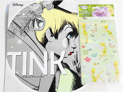 Tinker Bell 2018 Wall Calendar and Stickers By Sandylion Bundle