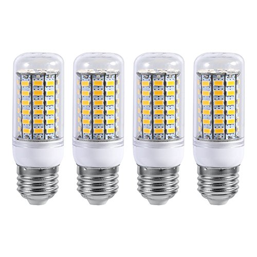 E27 220V LED Light 10W Ceiling Pendant Lamp Light Bulb Replacement for Home Kitchen Bedroom Bathroom -Bright Warm/Cool White,Pack of 4 (Warm White)