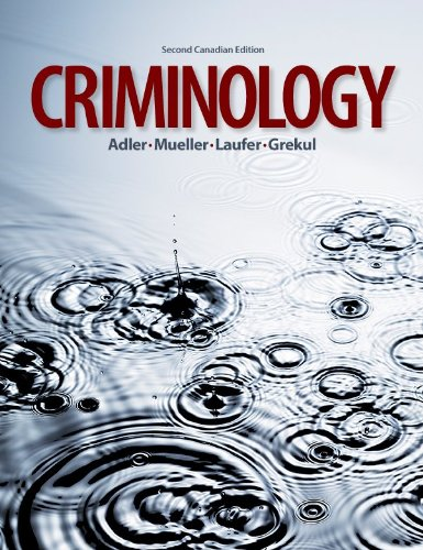 9780070319905: criminology text (canadian) 2nd edition.