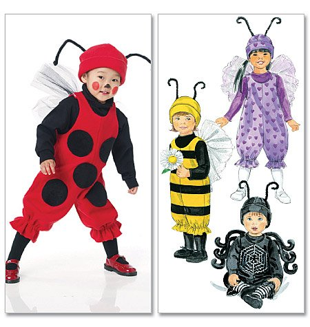 McCall's Patterns M6180 Infants'/Toddlers' Bug Costumes, All (Spider Costume Pattern)