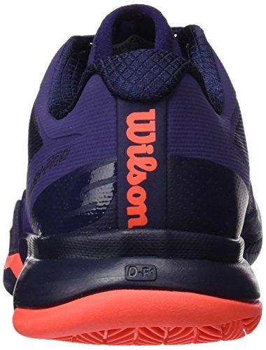 Wilson WRS323040E060, Zapatillas de Tenis para Mujer, Varios Colores (Multicolor / Astral Aura / Evening Blue / Fiery Cora), 39 2/3 EU