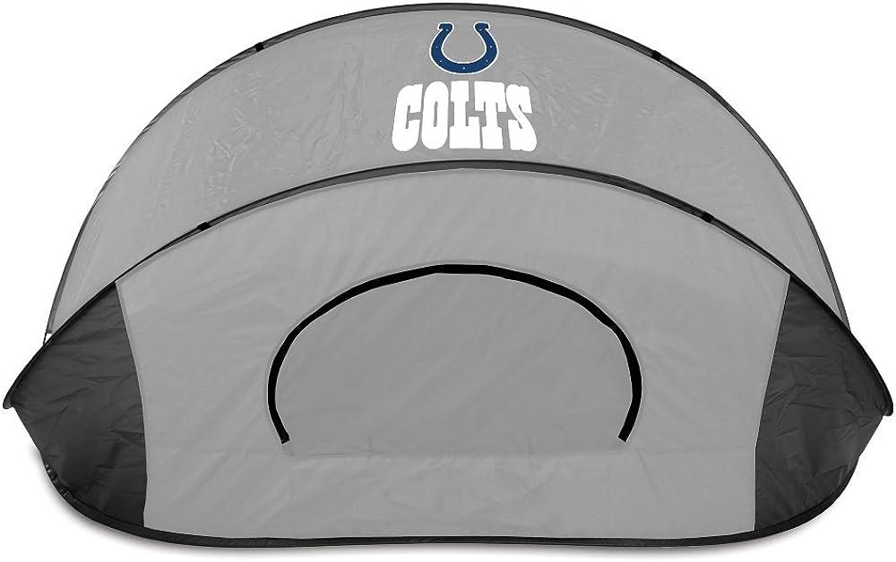 NFL Indianapolis Colts Manta Portable Pop-Up Sun//Wind Shelter Black//Gray