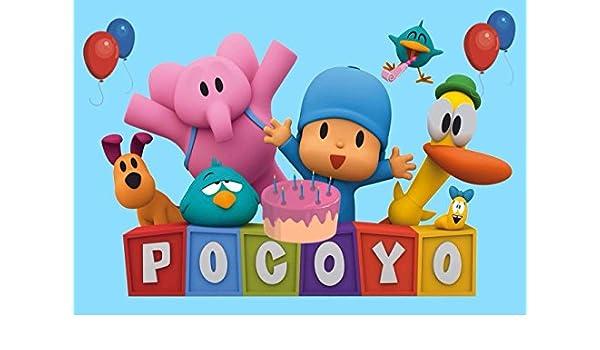 cakeusa Pocoyo azul fiesta cumpleaños 1/2 tamaño pastillaje ...