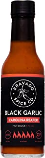 product image for Black Garlic And Carolina Reaper Hot Sauce By Bravado Spice FEATURED ON HOT ONES Gluten Free, Vegan, Low Carb, Paleo Hot Sauce All Natural 5 oz Hot Sauce Bottle Award Winning Gourmet Hot Sauce
