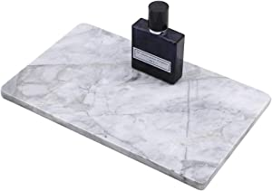 "LUANT Rectangular Marble Vanity Tray for Counter, Bathroom, Dresser, Nightstand or Desk, 10-1/4"" x 6-1/4"""