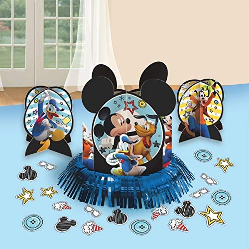 Amscan DisneyMickey Mouse Birthday Party Assorted Table Decorating Kit (23 Pack), 12.5'', Multicolor by Amscan