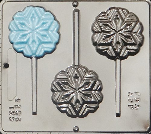 Snowflake Lollipop Lollipops Chocolate Candy Mold Christmas 2034