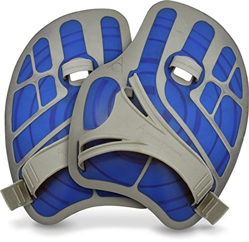 Aqua Sphere Ergoflex Small Hand Paddles (Blue/Gray)