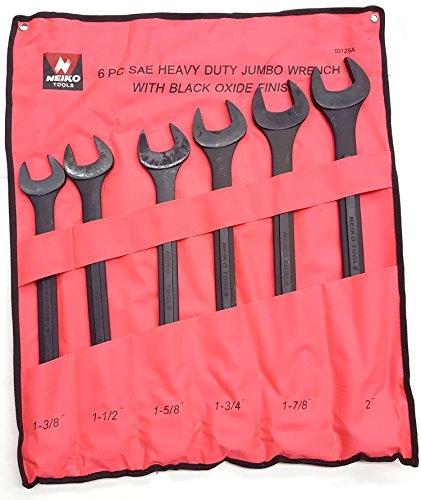 (Black Oxide Raised Panel Jumbo Wrench Set 6pc SAE Set)