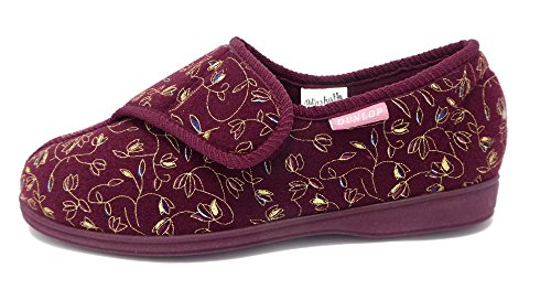 Dunlop - Zapatillas de estar por casa para mujer rojo - Wine