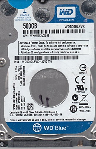 Western Digital WD5000LPVX 500GB Internal Hard Disk Drive - 3