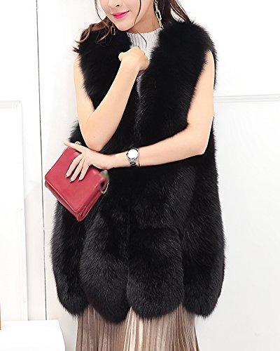 Parka Fausse Manches En Femme Manteau Veste Noir Long Sans Fourrure Blouson Pour Aqwp4xO5