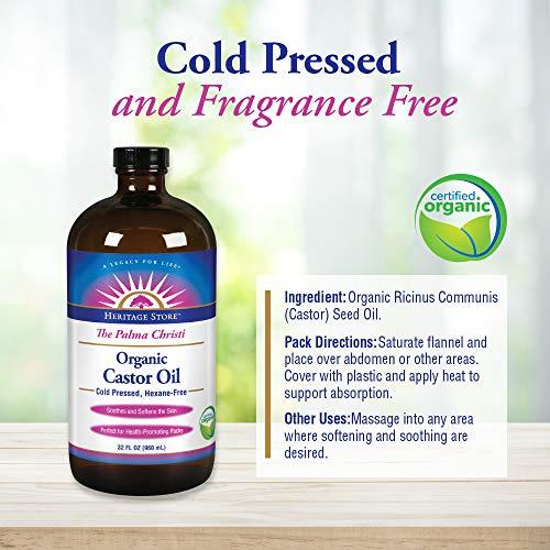 Castor Oil Organic Heritage Store 32 oz Liquid