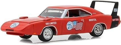 1969 Dodge Charger Daytona Spirit of 76 Bristol 500 Limited Orange Hobby Exclusive 1//64 Diecast Model Car by Greenlight 29969