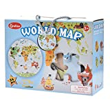 Luerme Kids World Map Puzzle Universe Planet Solar Jigsaw Puzzle, 48 x 48cm (World Map)