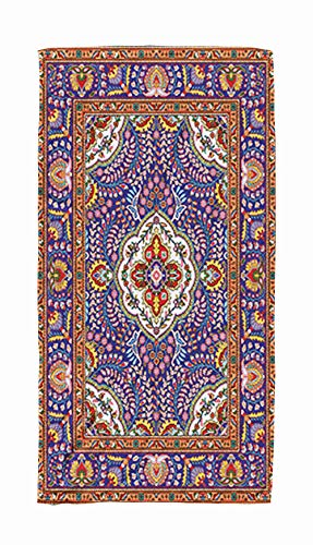 Kids,Baby,Women and Men Beach Towels,Colorful Mosaic Oriental Rug With Floral Motifs Central Medallion And Traditional 30x60 Inch Large Pool Towels for Body Bath,Swimming,Travel,Camping,Sport