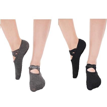 DoGeek-5 Pares de Calcetines Antideslizante para Yoga-Pilates Calcetines Fitness/Danza/Ballet Calcetín para Mujer