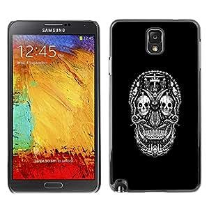 All Phone Most Case / Oferta Especial Duro Teléfono Inteligente PC Cáscara Funda Cubierta de proteccion Caso / Hard Case Samsung Note 3 N9000 // DARK GOTH SUGAR SKULL