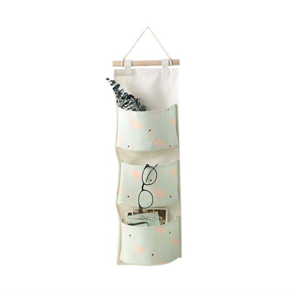 Kanggest Baumwolle stoff Schrank-Organize Kinder Spielzeug Kleidung wasserdichte Aufbewahrungskorb H/ängen /über die T/ür f/ür Handtaschen(Gr/ün) size 20 x 71 x 13 cm Gr/ün