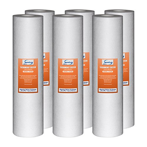 iSpring FP25BX6 20'' Big Blue Whole House Water Filter 4.5'' x 20'' Sediment (Pack of 6) by iSpring