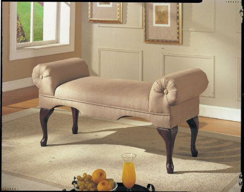 acme-05629-aston-microfiber-rolled-arm-bench-beige-finish
