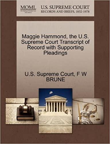 Ipod audio books download Maggie Hammond, the U.S. Supreme Court Transcript of Record with Supporting Pleadings 1270126121 PDF CHM ePub