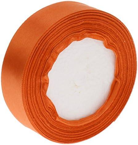 サテンリボン サテン リボン DIY 手作り パッキング インテリア 飾り デコレーション 便利 多色選べ - オレンジ