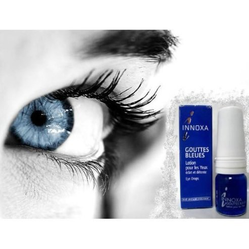 Desio Color Contact Lenses - Innoxa French Blue Eye Drops Gouttes