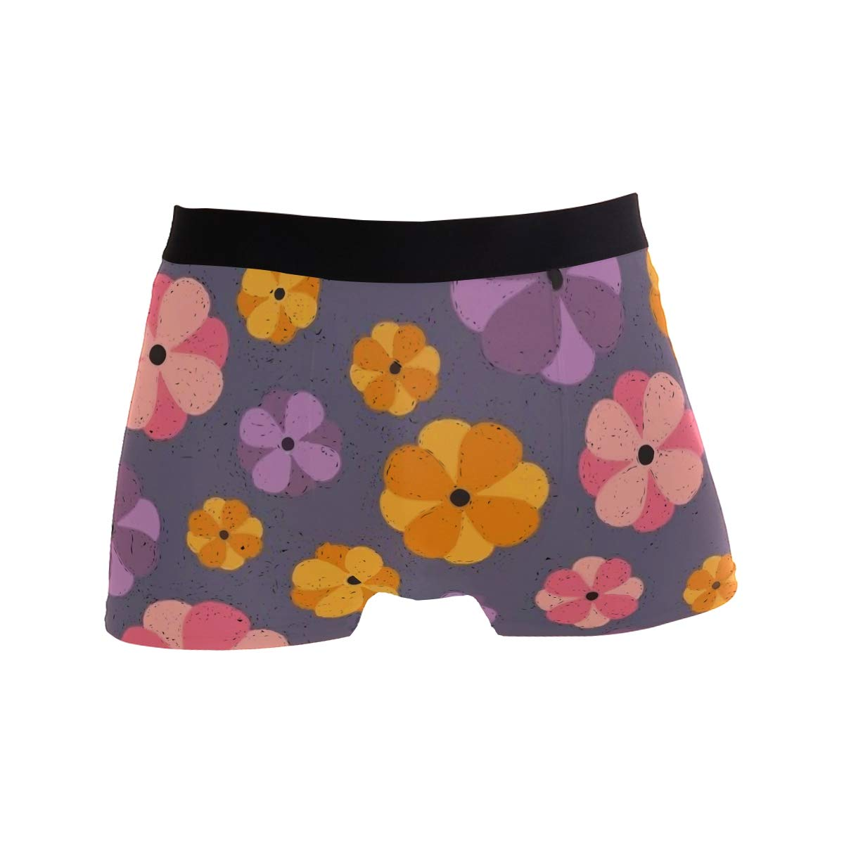 Mens Soft Breathable Abstract Painting Daisy Flower Underwear Boxer Briefs