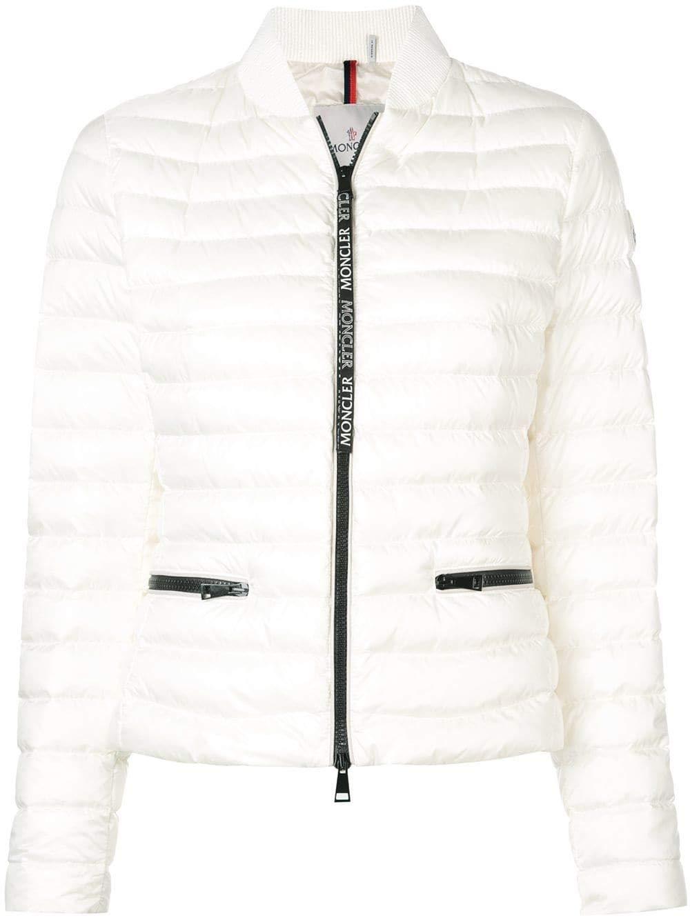Moncler Women's 4539099C0000034 White Polyamide Down Jacket