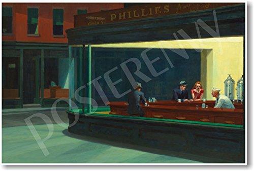 Nighthawks - 1942 - Edward Hopper - NEW Fine Arts (Nighthawks 1942 Edward Hopper)