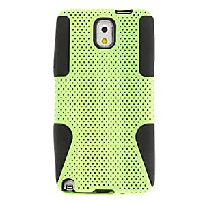 GJY Mesh hybrid silicone Combo Cover Case for Samsung Galaxy Note 3(Assorted Color) , Blue