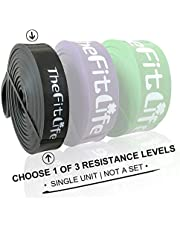 TheFitLife Resistance Pull Up Bands - Pull-Up Assist Exercise Bands, Long Workout Loop Bands for Body Stretching, Powerlifting, Fitness Training, Bonus Carrying Bag and Workout Guide - Black