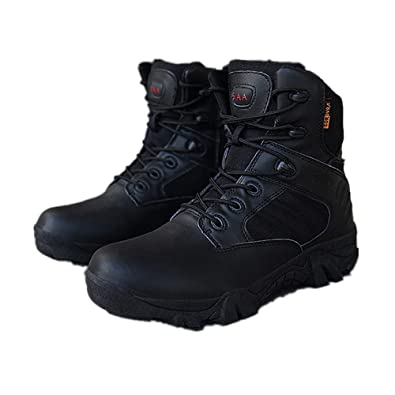 0bdd99442b edv0d2v266 Men Military Tactical Boots Desert Combat Outdoor Army Hiking  Shoes Travel Botas Shoes Leather Ankle