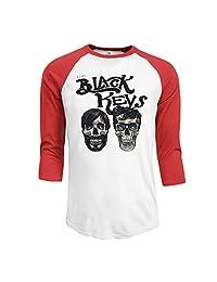 Men's 2015 The Black Keys Patrick Carney Dan Auerbach 3/4 Sleeve Raglan T-Shirt