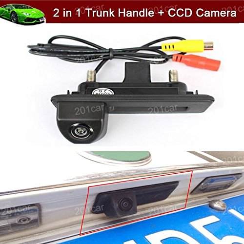 2 in 1 Replacement Car Trunk Handle + CCD Rear View Backup Reverse Parking Camera For Skoda Octavia Fabia Yeti Audi A1