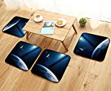 UHOO2018 Chair Cushions deep Space Art nebulas Planets Galaxies and Stars in Composition Awesome for Wallpaper Non Slip Comfortable W25.5 x L25.5/4PCS Set