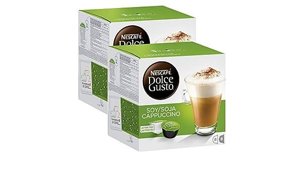 Nescafé Dolce Gusto soja capuchino, Café con leche de soja ...