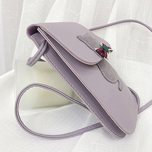 Zipper Bandoulière PU Gris Sac Bandoulière GMYAN Rose rougissante Sacs Blushing à Violet à Rose fqxYf06B
